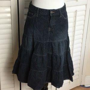Western Denim Flounced Skirt Size 3-4
